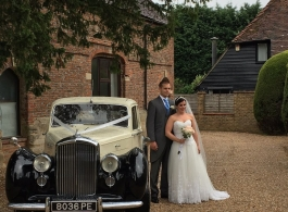 Classic 1950s Bentley wedding car hire in Crowborough